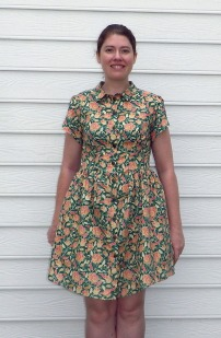 This is the final dress where I drafted my own sleeves.