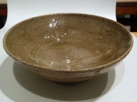 Woodfired clay bowl.