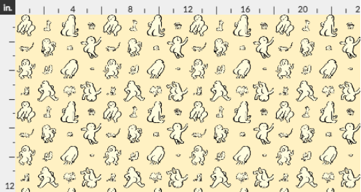Butt Guys & Wildlife by pendletonward at Spoonflower