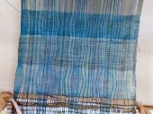 This was experimenting with different weft threads to see what worked.