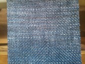 Weft color transition from blue to blue-grey.