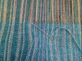 I always hemstitch the ends of my scarves. I find it soothing, and it really neatens up the fringe.