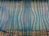 A close up of one of the weft experiments.