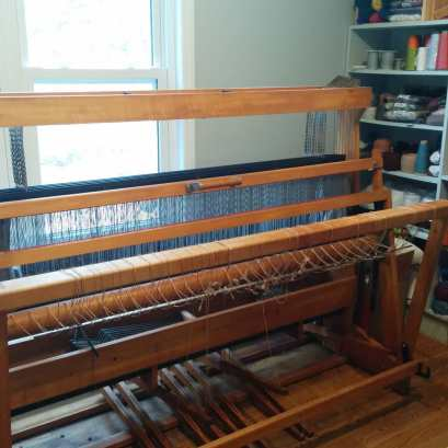 "54"" 8-shaft macomber loom."