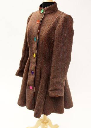 handwoven alpaca wool walking coat.